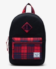Heritage Kid Backpack Black/Winter Plaid