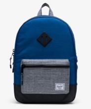 Heritage Youth Backpack Monaco Blue/Black/Raven Crosshatch