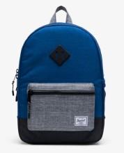 Heritage Kid Backpack Monaco Blue/Black/Raven Crosshatch