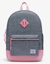 Heritage Kid Backpack Raven Crosshatch/Flamingo Pink