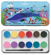 In The Sea Watercolors in Tin