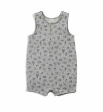 Jeffrey Romper - Grey 3-6m