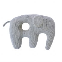 Jumbo Rattle Grey Elephant
