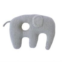Jumbo Rattle Grey Elephant