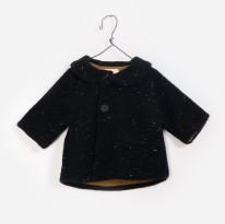 Knit Jacket Black 3-6m