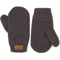 Knit Mittens Dark Grey 3-9m