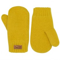 Knit Mittens Mustard 3-9m