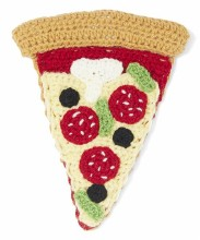 Knit Pizza Rattle
