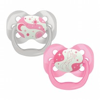 Level 1 GITD Pacifier Pink 2pk