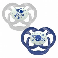 Level 2 GITD Pacifier Blue 2pk