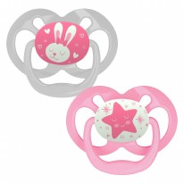 Level 2 GITD Pacifier Pink 2pk