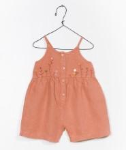 Linen Jumpsuit Orange 3-6m