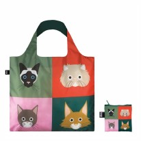 LOQI Tote Bag Cheetham Cats