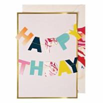 Marble Birthday Garland Card