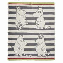 Moomin Brushed Blanket Grey