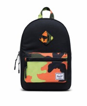 Heritage Kid Backpack Black/Neon Camo