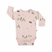 Onesie Pink Mountain 0-3m