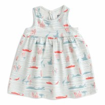 Oslo Dress Hippos 3-6m