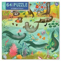 Otters at Play Puzzle - 64 Piece