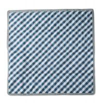 Outdoor Blanket 5x5 Navy Plaid
