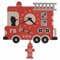 Firetruck Pendulum Clock
