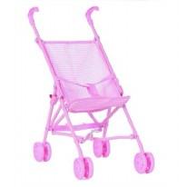 Doll Stroller Pink Gingham