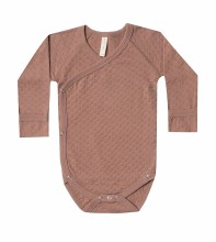 Pointelle Onesie Clay 0-3m
