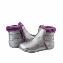Polar Boot Silver/Plum 3-6m