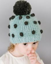 Popcorn Hat - Blue 3-12m
