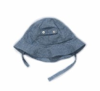 Poppy Hat Blue Denim 3-6m
