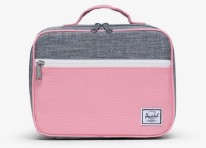 Pop Quiz Lunch Box Raven Crosshatch/Flamingo Pink