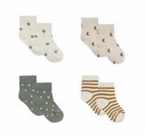 Printed Sock Set 0-6m