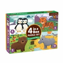 Animals of the World 4-in-a-box Puzzle