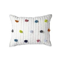 Quilted Nursery Pillow Pom Pom