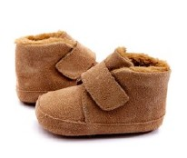Shoofly Natural Suede 3-6m