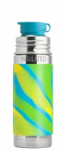 Sport Insulated Bottle 9oz Aqua Swirl