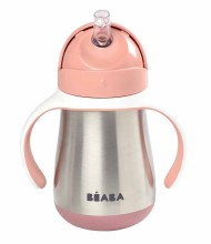 Stainless Steel Straw Sippy Cup Rose
