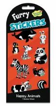 Stickers Furry Happy Animals