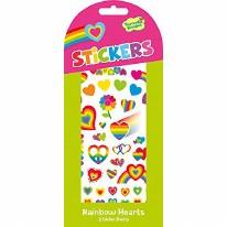 Stickers Rainbow Hearts