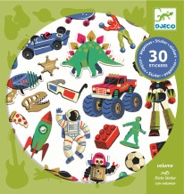 Stickers Retro Toys- Puffy