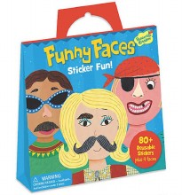 Stickers Tote Funny Faces