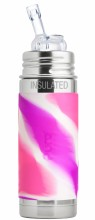 Straw Insulated Pink Swirl