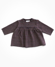 Striped Dress Mauve 3-6m