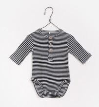 Striped Onesie Black 3-6m