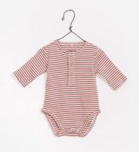 Striped Onesie Pink 3-6m