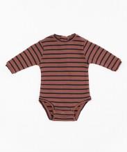 Striped Onesie Rust 3-6m