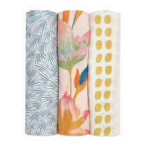 Swaddle Silky MarineGarden 3Pk