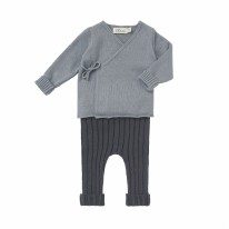 Sweater Set Storm Blue 3-6m