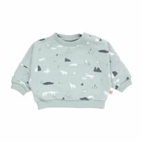 Sweatshirt Wolves Mist 3-6m