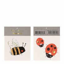 Temp Tattoos Bee & Ladybird
